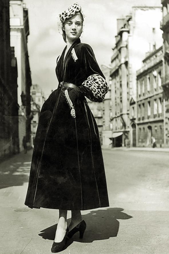 Một thiết kế trong bộ sưu tập New Looks  của Dior vào thập niên 40 thế kỷ trước