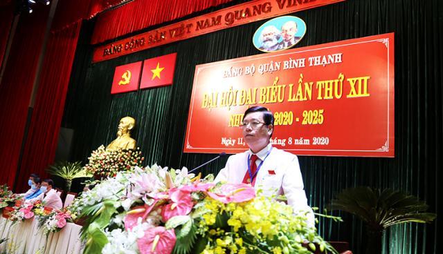 Ông Vũ Ngọc Tuất, tái đắc cử Bí thư quận ủy Q. Bình Thạnh nhiệm kỳ 2020-2025