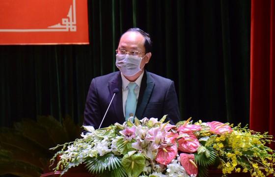 Ông Nguyễn Hồ Hải- Trưởng Ban Tổ Chức Thành ủy phát biểu chỉ đạo tại phiên chính thức của Đại hội diễn ra ngày 12/8/2020.