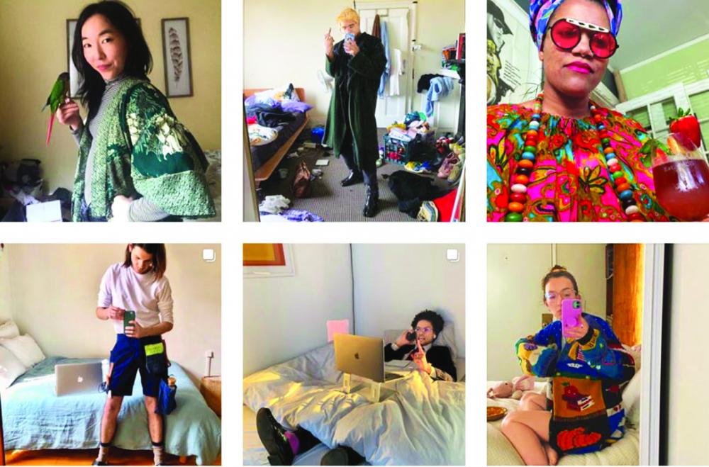 Do lệnh phong tỏa, hầu hết mọi người chỉ  khoe phong cách thời trang ở nhà của mình  lên mạng xã hội