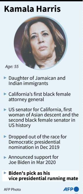 Tiểu sử ứng cử viên Kamala Harris - Ảnh: AFP
