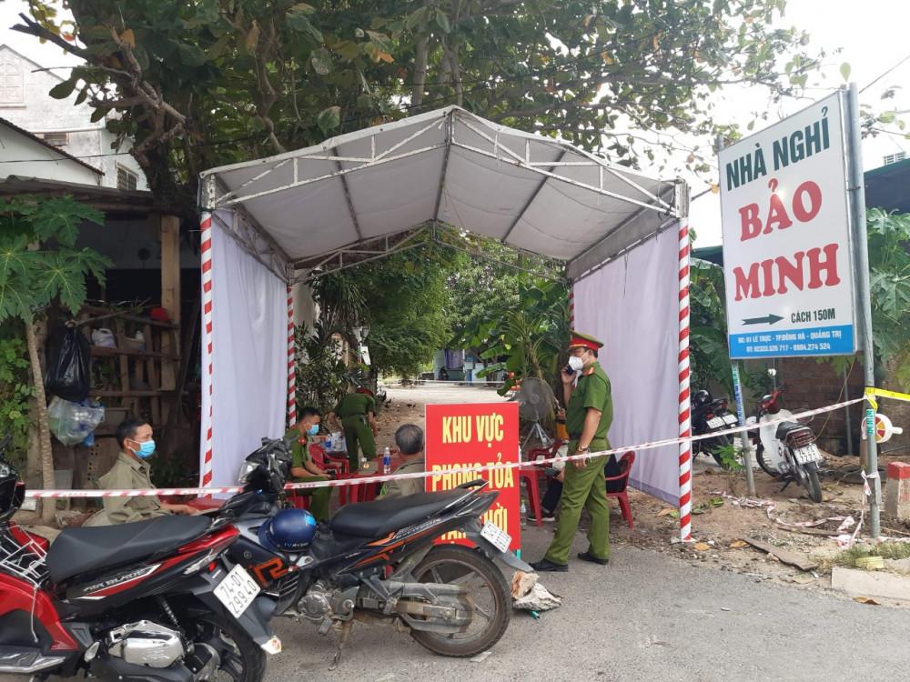 Phong tỏa Khu cách ly tạm thời tại xã Gio Châu, huyện Gio Linh