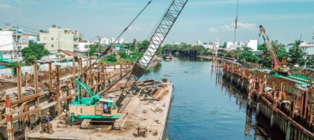 Dự án chống ngập gần 10.000 tỷ đồng hiện còn vướng mặt bằng tại huyện Nhà Bè