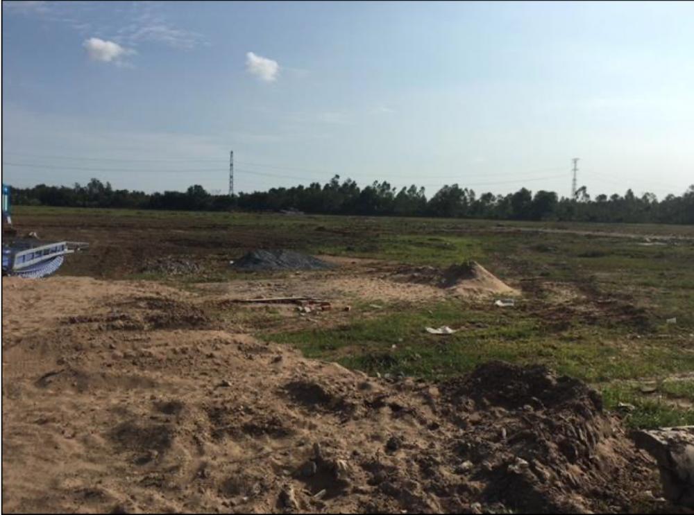 Hiện trạng khu đất tại huyện Bình Chánh đang được Sacombank rao bán