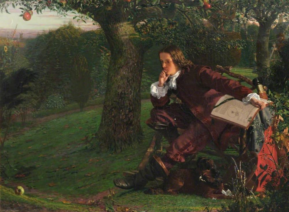 Isaac Newton trong thời gian tự cách ly năm 1665, tranh của Robert Hannah vẽ vào năm 1851 - Ảnh: artuk.org