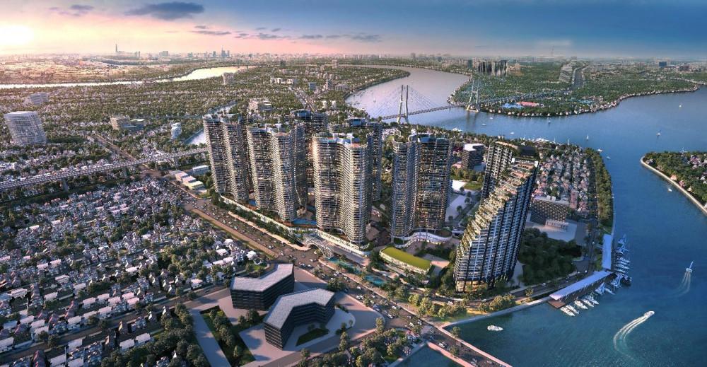 Sunshine Diamond River - một trong những siêu dự án của Sunshine Homes với 3 mặt giáp sông tại Sài Gòn