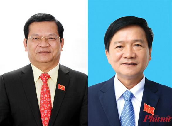 Ông Lê Viết Chữ (trái) và ông Trần Ngọc Căng, nguyên Bí thư Tỉnh ủy, nguyên Chủ tịch UBND tỉnh Quảng Ngãi bị cấp thẩm quyền kỷ luật cảnh cáo