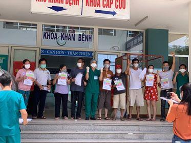 9 bệnh nhân mắc COVID-19 điều trị tại Bệnh viện Hòa Vang được công bố khỏi bệnh vào ngày 15/8