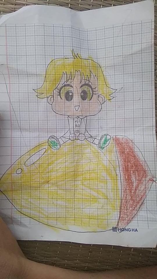 Bức tranh của con gái điều dưỡng Trương Thị Thìn tặng mẹ