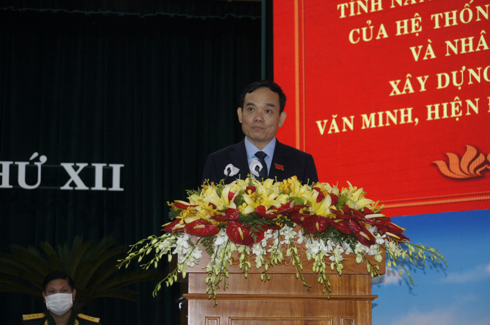 Ông Trần Lưu Quang- Phó Bí thư Thường trực Thành ủy TPHCM phát biểu chỉ đạo đai hội