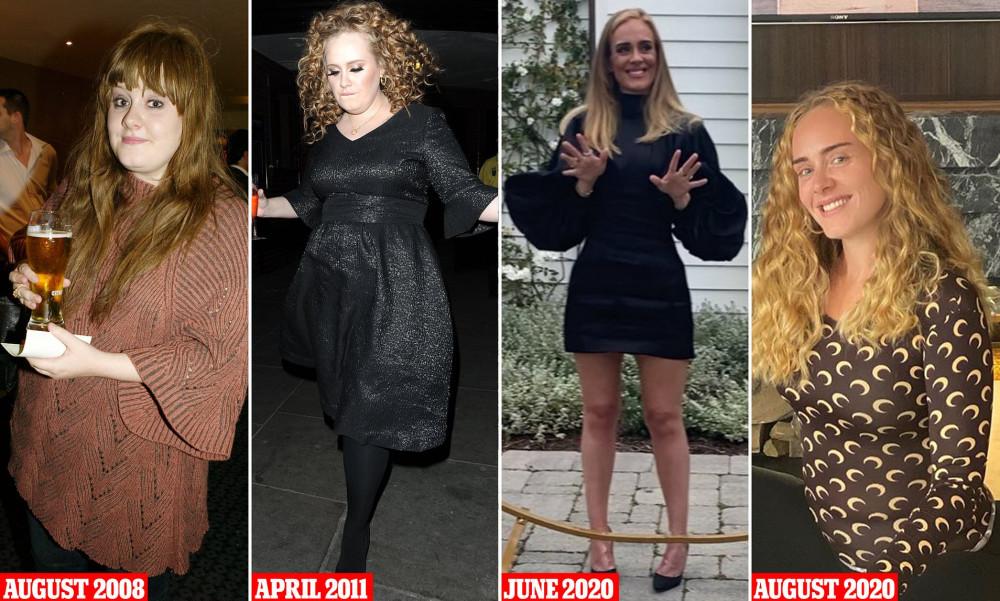 Ngoại hình của Adele thay đổi theo thời gian.