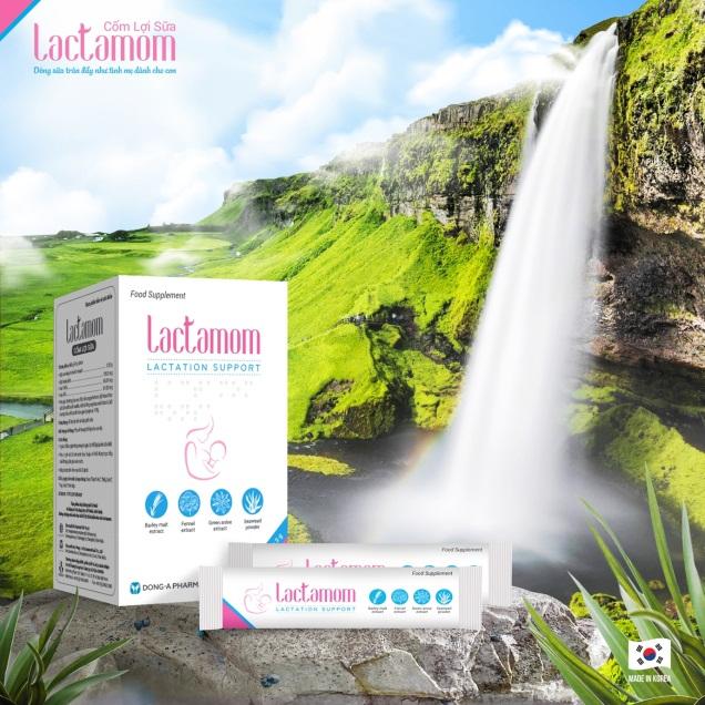 Cốm lợi sữa Lactamom được hàng triệu bà mẹ Hàn Quốc tin dùng. Số GPQC: 1321/2020/XNQC-ATTP