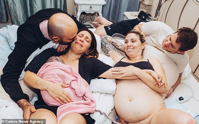 Khoảnh khắc lần đầu gặp gỡ con trai Luca của Mirelle và Jason