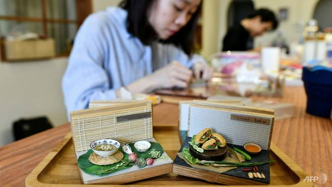 Nguyễn Thị Hà An bắt đầu chế tác mô hình đồ ăn tí hon cách đây 1 năm.