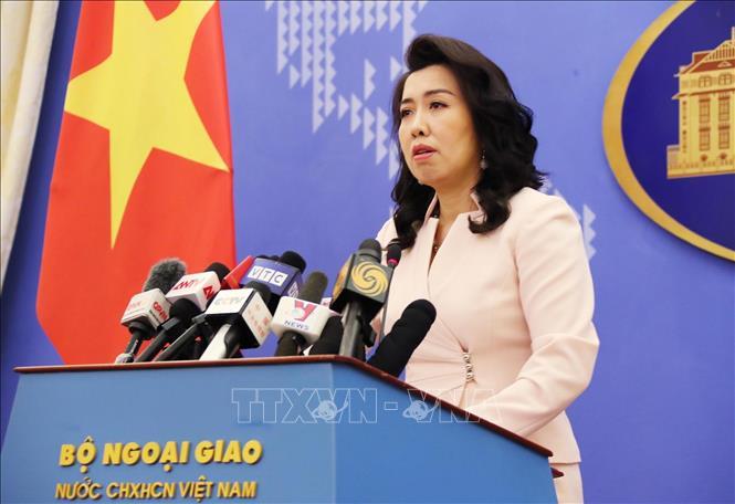 Người phát ngôn Bộ Ngoại giao Lê Thị Thu Hằng. Ảnh: Lâm Khánh/TTXVN