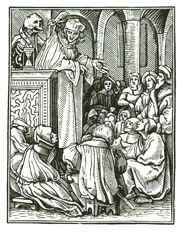 Một bức trong loạt tranh khắc gỗ của của danh họa Hans Holbein