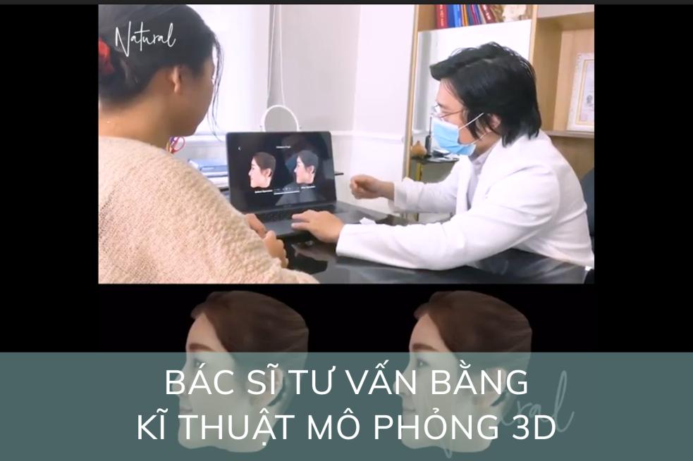 Bác sĩ tư vấn tận tình với khách hàng với công nghệ mô phỏng 3D hiện đại.Ảnh: TMV Natural cung cấp