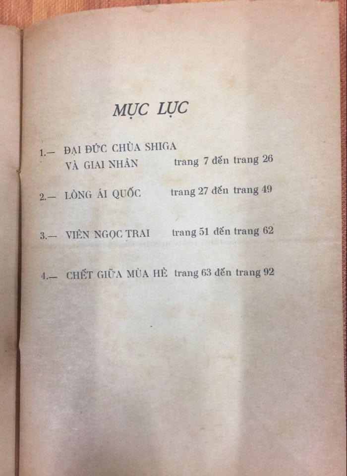 Bằng chứng Tao Đàn đưa ra: bản dịch Chết giữa mùa hè in năm 1969 chỉ có 4 truyện