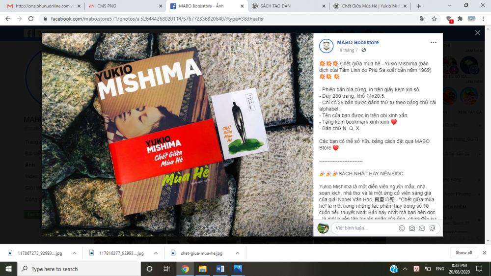 Giới thiệu tác phẩm Chết giữa mùa hè trên Mabo Book Store