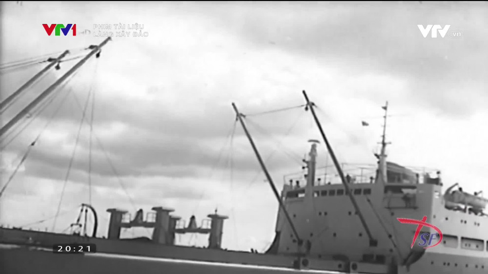 Hình ảnh trong phim tài liệu Làng xây đảo từng được phát trên VTV1.