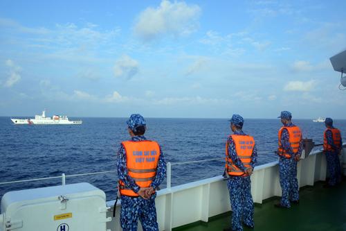 Lực lượng chức năng của Việt Nam thực hiện nhiệm vụ trên biển. Ảnh: canhsatbien.vn