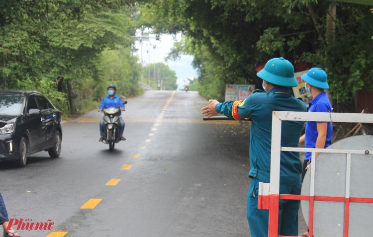Chốt kiểm soát dịch ở huyện Hòa Vang