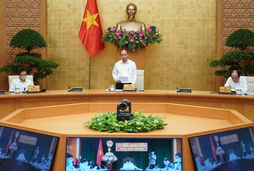 Thủ tướng Nguyễn Xuân Phúc phát biểu khai mạc hội nghị. (Ảnh VGP)