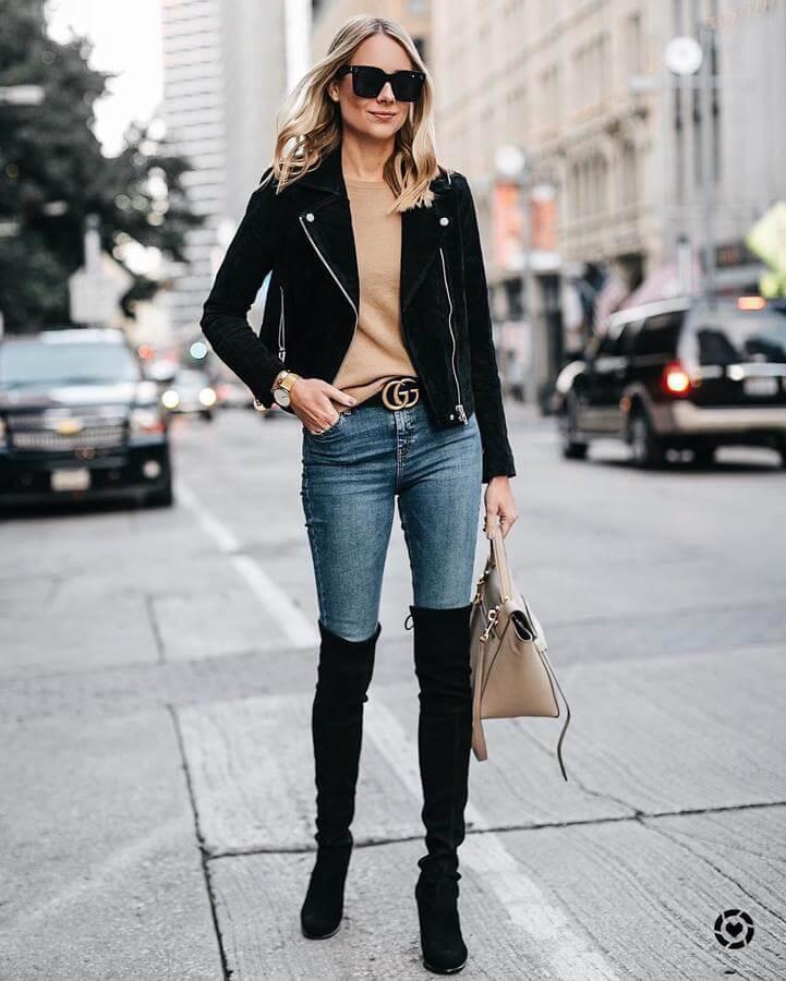 Knee-High Boots (boots cao quá gối): ôn được xem là loại boots kiểu cách và cuốn hút bậc nhất. Bùng nổ từ thập niên 70 và trong suốt hơn 40 năm tồn tại, xu hướng boots cao quá gối vẫn không hề bị lãng quên giữa dòng chảy thời trang.