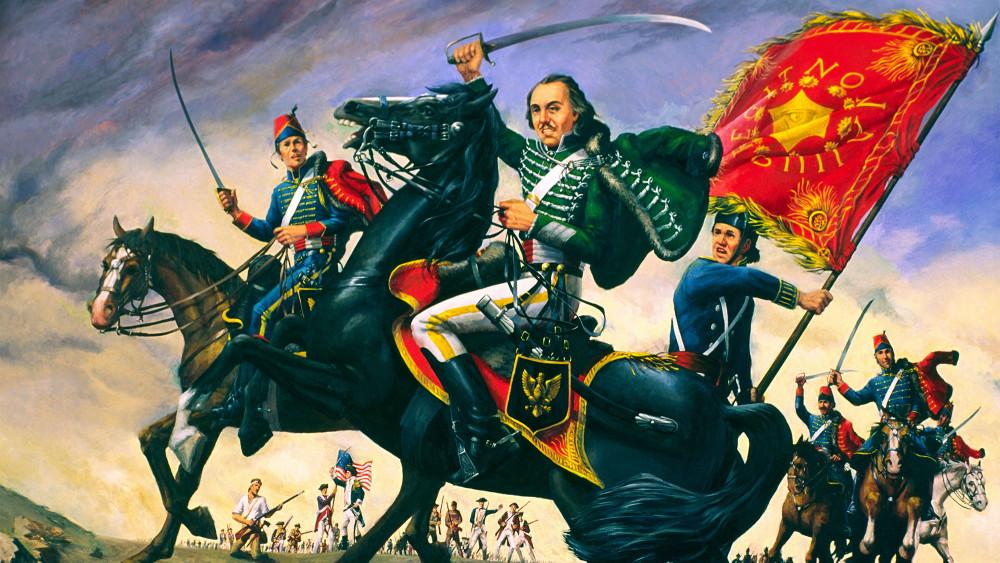 Tướng Casimir Pulaski trên lưng ngựa - Ảnh: David Lyons/Alamy