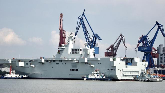 Trung Quốc hạ thủy tàu tấn công đổ bộ Type 075 thứ hai vào ngày 22/4/2020