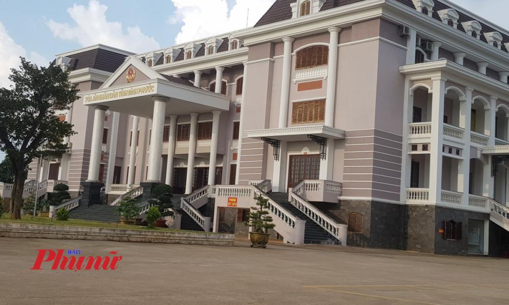TAND tỉnh Bình Phước, nơi bị cáo Hào cùng nhiều đối tượng khác kéo nhau lên gây rối sau khi bị xử tù giam