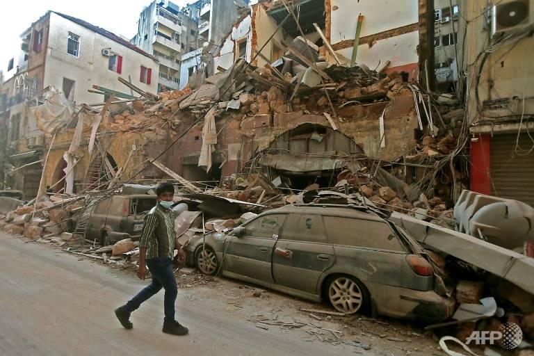 Vụ nổ ở cảng Beirut hôm 4/8 làm hư hại nhiều khu nhà ở của lao động nhập cư.