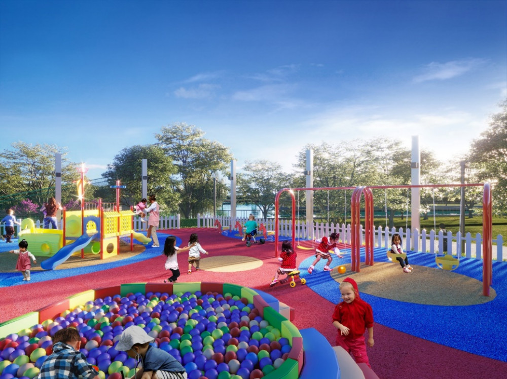 Gần 3.000m2 không gian dự án để phát triển các tiện ích cho trẻ nhỏ