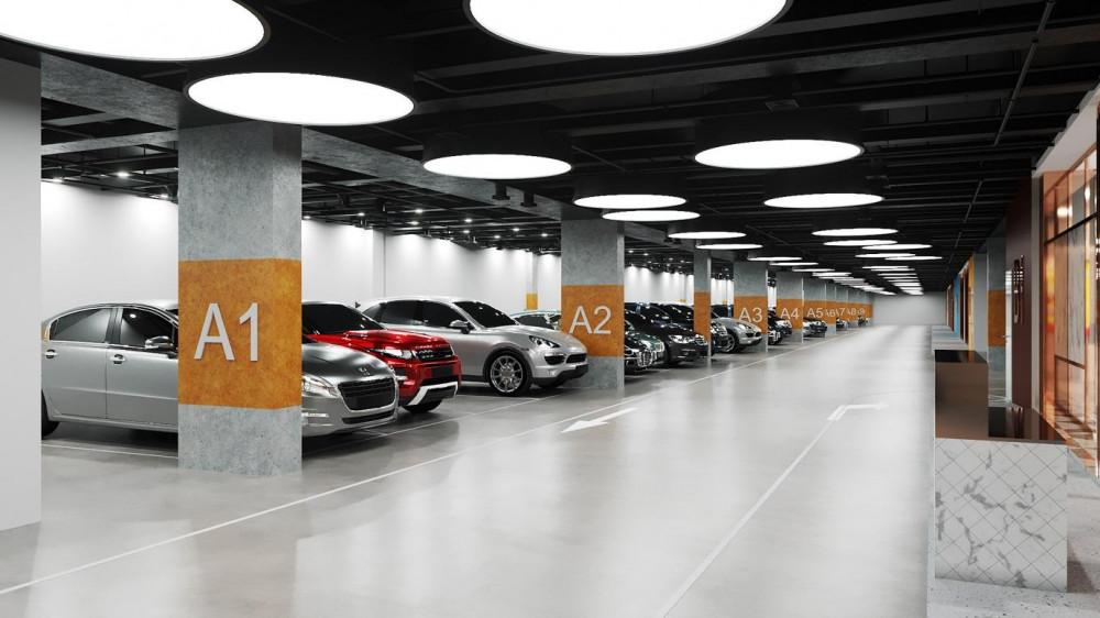 Khu vực để xe tại hầm dự án  được trang bị thiết bị phòng cháy theo quy định CA PCCC