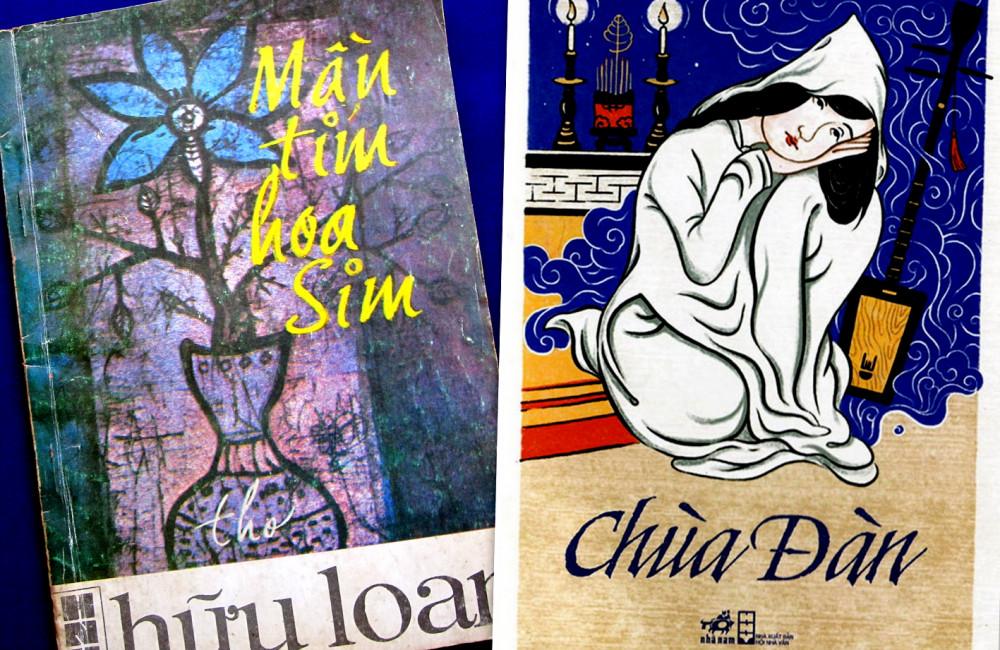 Tác phẩm Chùa đàn của nhà văn Nguyễn Tuân và Màu tím hoa sim của nhà thơ Hữu Loan