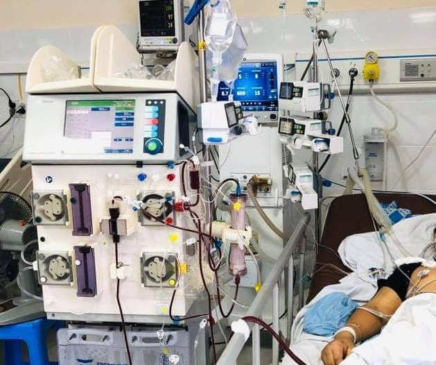 Bệnh nhân mắc Whitmore phải lọc máu nhưng hiện tại đã qua cơn nguy kịch