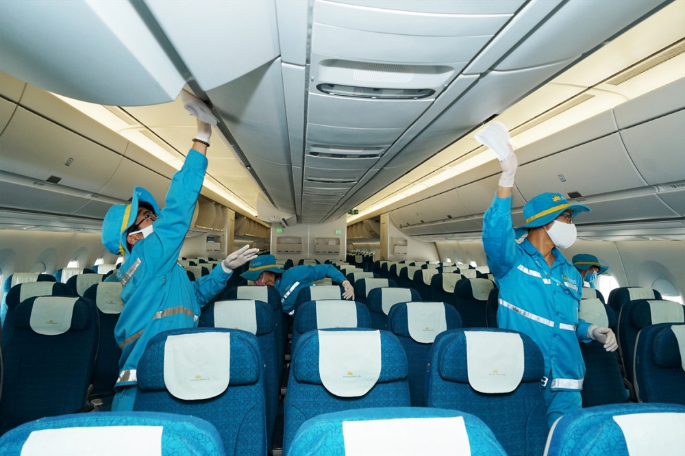 Toàn bộ tổ bay của Vietnam Airlines sau chuyến bay hiện đang được cách ly (ảnh minh họa, VNA)