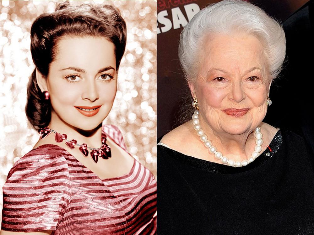 Olivia de Havilland, nữ diễn viên thủ vai Melanie Hamilton trong bộ phim kinh điển Cuốn theo chiều gió (trái) và bà lúc bước sang tuổi 102 năm 2018. Bà mất ngày 26/7 tại Paris (Pháp), thọ 104 tuổi - Ảnh: People