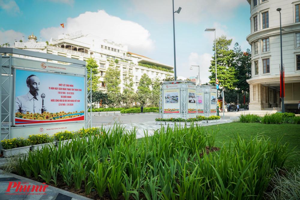 Công viên Lam Sơn tạo không gian kết nối liên tục giữa phố đi bộ Nguyễn Huệ với Nhà hát Thành phố tạo thêm không gian cho các hoạt động triển lãm, tuyên truyền các hoạt động văn hóa, xã hội của Thành phố.