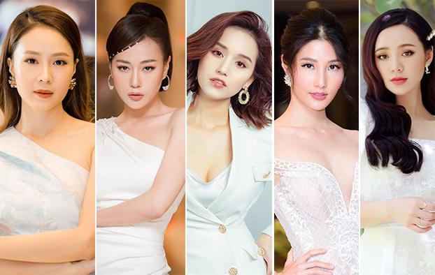 Top 5 Nữ diễn viên ấn tượng (từ trái sang) gồm: Hồng Diễm, Phương Oanh, Lã Thanh Huyền, Diễm My, Quỳnh Kool.