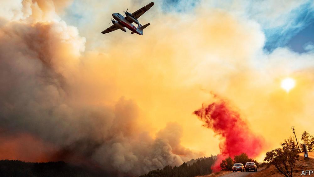 California đang phải hứng chịu những trận cháy rừng khủng khiếp nhất trong lịch sử - Ảnh: AFP
