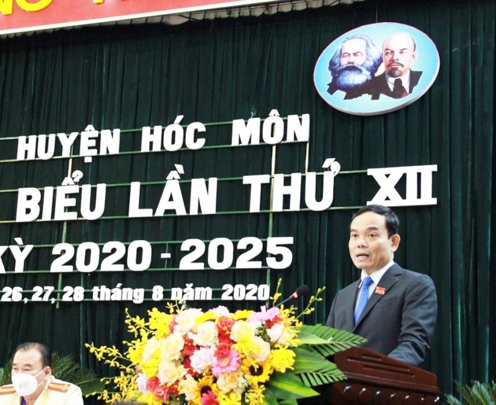 Phó bí thư thường trực Trần Lưu Quang phát biểu chỉ đạo tại đại hội
