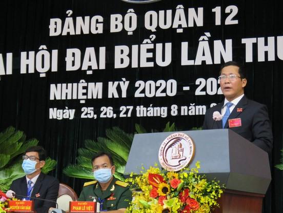 Ông Trần Hoàng Danh - tái đắc cử vị trí Bí thư quận ủy Quận 12.