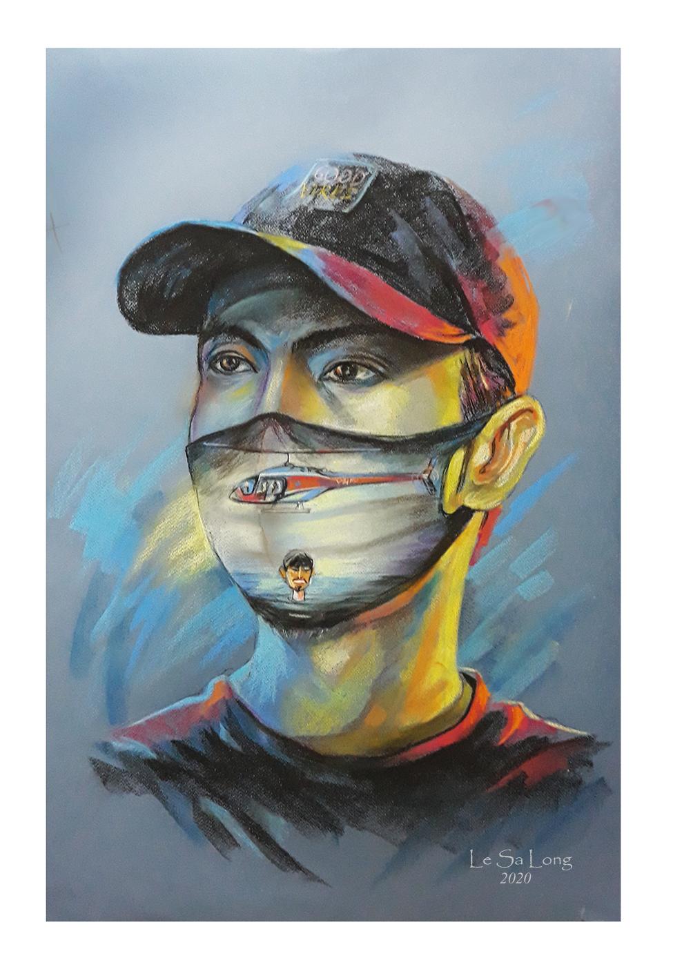 Tác phẩm vẽ rapper Đen Vâu