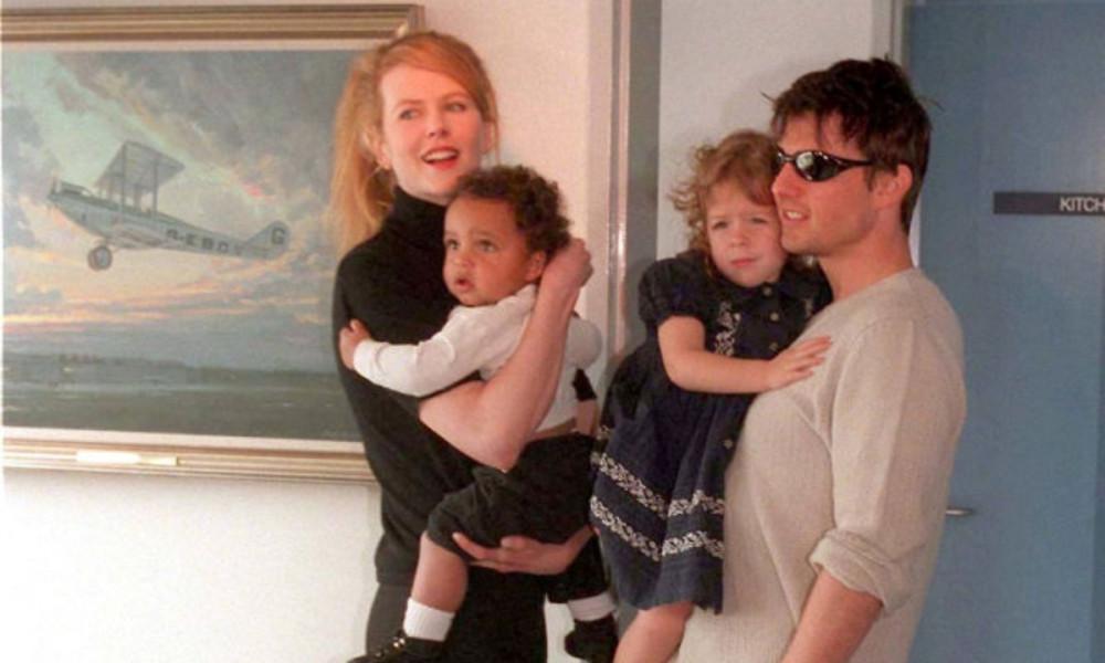 Bức ảnh hiếm hoi đầy đủ gia đình của cặp minh tinh Nicole Kidman và Tom Cruise.