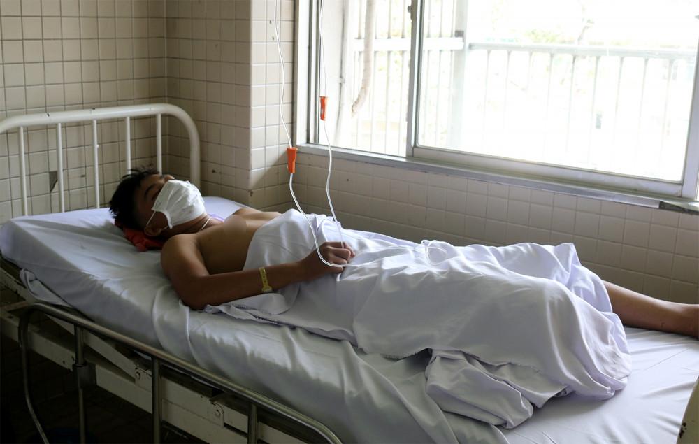 Tuy được cứu sống nhưng Đ. phải chịu tật nguyền suốt đời, ảnh BVCC