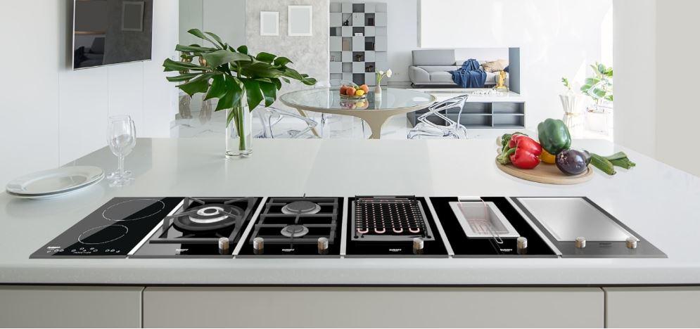 Bộ bếp Domino tối đa công năng cho phòng bếp nghệ thuật đỉnh cao