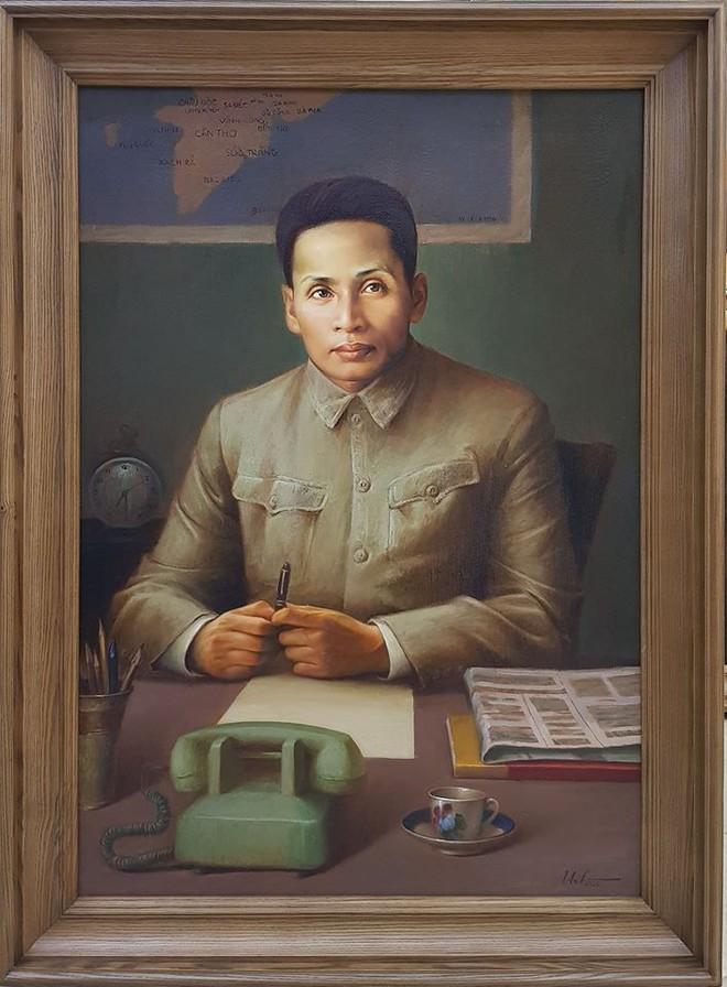 Danh dung cố Thủ tướng - Bộ trưởng Ngoại giao Phạm Văn Đồng trong bức tranh do hoạ sĩ