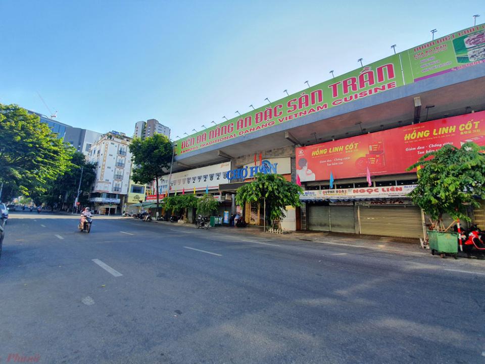 Đường phố Đà Nẵng ngày 28/7, ngày đầu thực hiện giãn cách xã hội - Ảnh: Lê Đình Dũng