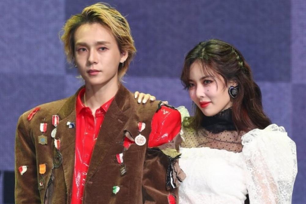 HyunA cùng bạn trai E'Dawn tình tứ tại sự kiện.